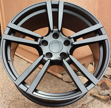 "21"" Wheels For Porsche Cayenne S GTS Touareg Audi Q7 Satin Black 5x130 Rims Set"