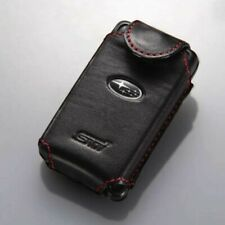 SUBARU Genuine Calf Leather Keyless Smart Key Case Cover STI Logo Japan Tracking
