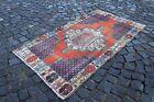 Wool rug, Area rug, Vintage rug, Turkish rug, Bohemian rug   2,9 ft x 3,2 ft
