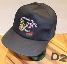 NATIONAL FOAM FIRE FIGHTING HAT BLACK SNAPBACK ADJUSTABLE VERY GOOD COND D2