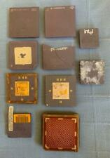 Mixed Lot of 10 Computer Chips, CPU's, Scrap, Gold Recovery