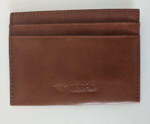 Bosca Tan Leather Card Case Wallet Minimalist