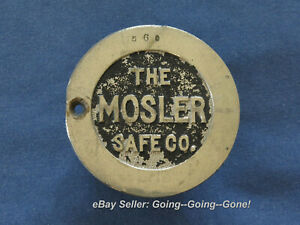 Antique The Mosler Safe Co Safe Tumblers Brass Lock Part Combination RARE!