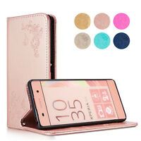 Card Holder Leather Flip Wallet Case Cover Stand For Sony Xperia X XA XZ Z3 Z5