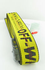 New Off White Industrial Belt yellow black Original  YEEZY Supreme BALENCIAGA