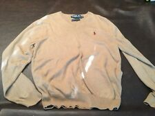 Polo Ralph Lauren Pima Long-Sleeved Shirt. MD Lite Brown Free Ship