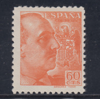 ESPAÑA (1939) NUEVO SIN FIJASELLOS MNH - EDIFIL 873 (60 cts) FRANCO - LOTE 4