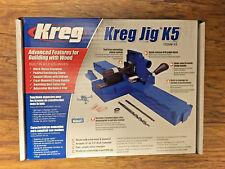 New Kreg K5 Pocket Hole Jig Woodworking Tool Kit System + Starter Project Plans