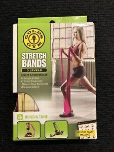 Gold's Gym Stretch Bands, 3 Bands - Light, Medium, & Heavy Resistance, NIP