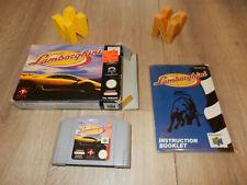 PAL N64: Automobili Lamborghini boxed with box and manual Nintendo 64