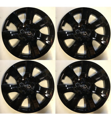 4 X Full Set Black 16 Hubcaps Fits Toyota Camry 2010 2011 Wheel Cover Fits Toyota