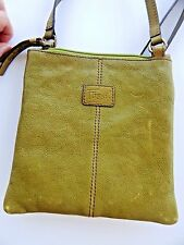 Fossil Cross Body / Shoulder bag Apple Green Leather Small Purse