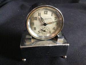 Interesting Vintage Henry Spingarn Paris Musical Alarm Art Deco Travel Clock