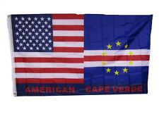 3x5 USA American Cape Verde Friendship Combination Flag 3'x5' Banner Grommets
