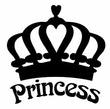 "Princess  Vinyl Decal ""Sticker"" For Car or Truck Windows, Laptops, etc"