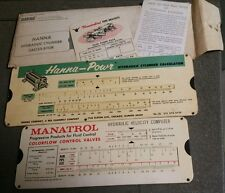 2 SLIDE SCALES  FOR HYDRAULIC VELOCITY & CYLINDER BY HANNA/ MANATROL + MORE