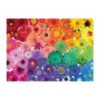 1000 Piece Rainbow Flowers Jigsaw Puzzles For Adults Kids Learning W7I9