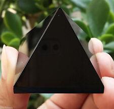50-60g 1pcs NATURAL Obsidian quartz crystal Pyramid healing &2