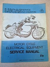 LUCAS MOTORCYCLE ELECTRICAL EQUIPMENT SERVICE MANUAL 37P TRIUMPH BSA NORTON OEM