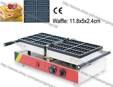 Commercial Nonstick Electric 8pcs Square Belgium Waffle Maker Iron Baker Machine