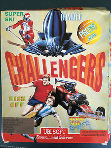 Vintage Commodore Amiga Game software - Challengers 5 Games see photo