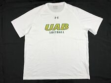 Under Armour UAB Blazers - Men's White HeatGear Short Sleeve Shirt (2XL) - Used