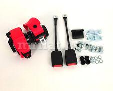 Fiat X1/9 Red Retractable Seatbelt Set New