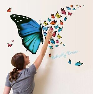 Attractive Butterfly Wall Sticker Home Bedroom decoration Wall Poster for Child