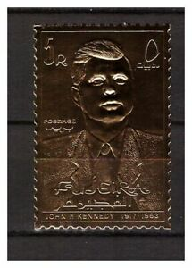 s14604) UMM AL QIWAIN 1967 MNH** Kennedy Gold Foil 1v