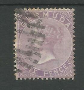BERMUDA SG6 THE 1865 QV 6d PURPLE FINE USED CAT £75