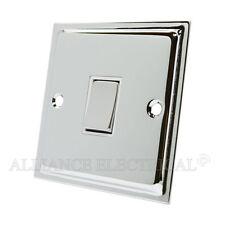 Slimline Polished Chrome Intermediate 1 Gang Light Switch 10 Amp Shiny Silver