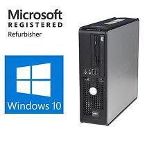 DELL Windows 10 Pro 64 Dual Monitor Fast Desktop Computer PC 8GB 1TB WiFi DVD-RW