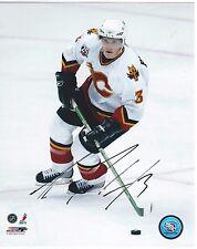 Dion Phaneuf Signed Calgary Flames Photofile 8x10 Photo