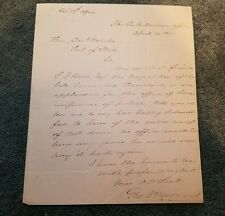 GEORGE P. MORRIS - autograph letter dated 4/14/1841 written to Daniel Webster