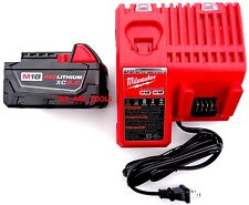1 New 18V Milwaukee 48-11-1850 5.0 AH Battery, 1) Charger 48-59-1812 M18 18 Volt