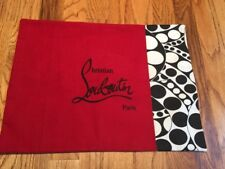 CHRISTIAN LOUBOUTIN DUST BAG FABRIC HAND MADE THROW PILLOW COVER NEW