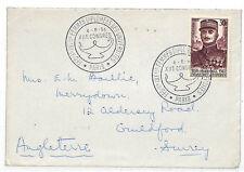 EE190 1956 FRANCE WOMEN UNIVERSITIES Special Cancel Congress Guildford{samwells}