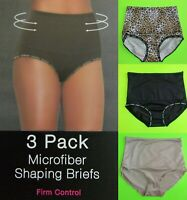 NWT BEBE 3-PACK Firm Tummy Control Shaping Girdle Brief Panties S,M,L,XL