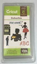 Cricut Cartridge - SUBURBIA - 50s 60s Silhouettes & Font -  Brand New - Sealed
