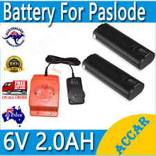 2X Batteries For Paslode 6V 2.0Ah Nail Gun IM200 IM250 CF325+ battery charger