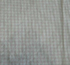 Pottery Barn Kids PBK Light Pink White Gingham Crib Sheet Cotton Flat Sheet