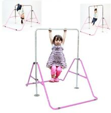 Kids Jungle Athletic Children Swing Flip Adj gymnastics Monkey bar Pink New