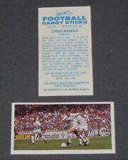 GUM CARD BARRATT BASSETT FOOTBALL 1988-1989 #38 CHRIS WADDLE TOTTENHAM SPURS OM