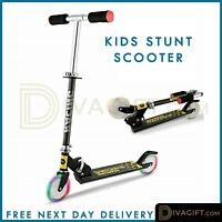 Kids Pro Stunt Scooter Fixed Bar 180 Degree Street Kick Push Aluminium Frame