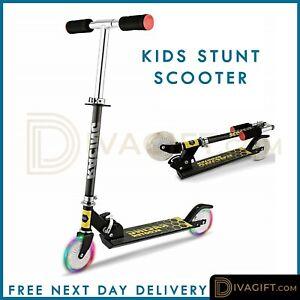 Kids Pro Stunt Scooter Fixed Bar 180 Degree Street Kick Push Aluminium Frame
