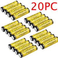 20PCS GARBERIEL 14500 (AA)  3.7V 1200mAH Li-ion Lithium Rechargeable Battery USA