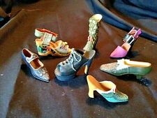 Miniature Women'S Vintage Style High Heel Shoes Lot Of 7 Resin