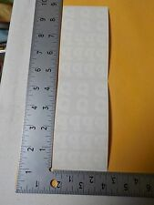 FRANCES MEYER WHITE ALPHABET LETTER Q UPPER LOWER CASE STICKERS SCRAPBOOK A3034
