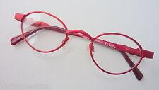 Felix Kinderbrille Mädchenbrille oval rot blau Federscharniere neu size K
