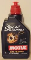 Motul Gear Competition Ester Gear Oil 75W140 1L For Holden Toyota Nissan Honda